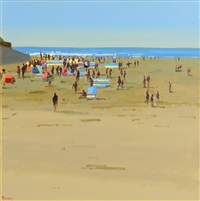 busy day, ballybunion by john morris