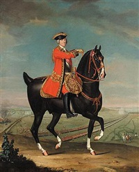 equestrian portrait of field marshall sir jean louis ligonier, 1sr earl ligonier by david morier