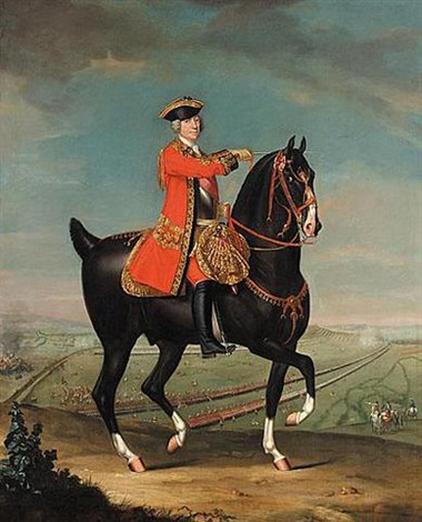 equestrian portrait of field marshall sir jean louis ligonier 1sr earl ligonier by david morier