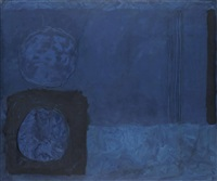 blue november painting: nov by patrick heron