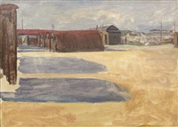 a military camp in the great war by john lavery