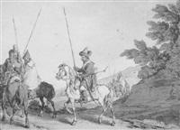 tartar cavalry procession by john augustus atkinson