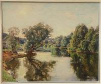 bord de rivière by jules alexis meunier
