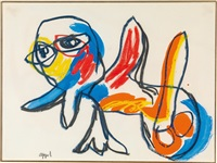 double bird by karel appel
