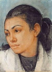 portrait de jeune algérienne by jean bouchaud