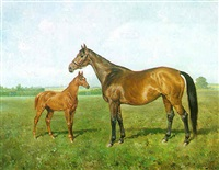 mare and foal by franz reichmann
