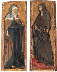 santa chiara (+ santa elisabetta d'ungheria; pair) by giovanni di paolo