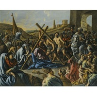 christ carrying the cross by mathieu (le chevalier) le nain