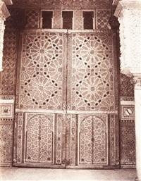 voyage en orient. séville. alcasar. porte de la grande salle des ambassadeurs by louis de clercq