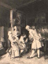 caballeros en el estudio del pintor by cristobal de antonio
