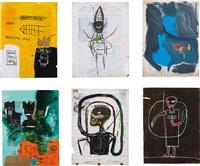 84 olympics (black figure, flexible, rome pays off, untitled, blue ribbon series, black figure, jump king, scapula) (6 works) by chris lipomi