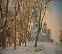 l'eglise en hiver by serguei matchekhine