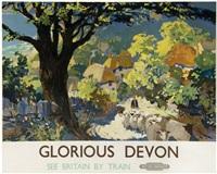 glorious devon, british railways by leslie arthur wilcox