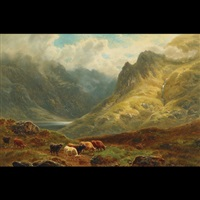 glen goil, argyleshire (+ loch restil, argyleshire; 2 works) by william davies