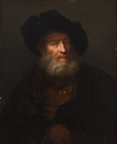 portrait of a rabbi by alexis grimou