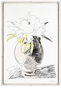 flowers (hand-colored) by andy warhol