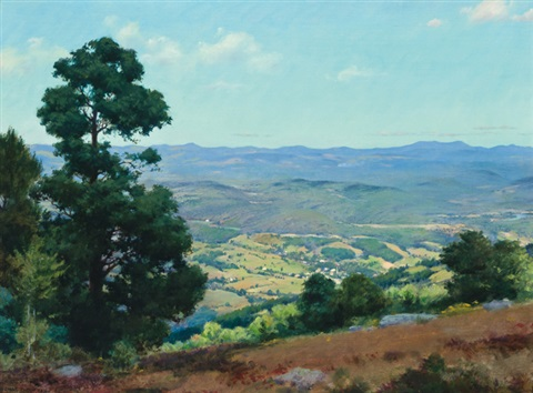 view over ellenville new york by charles courtney curran