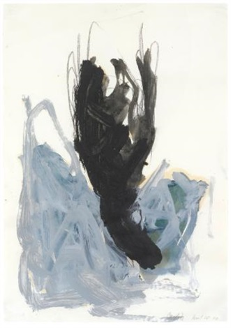 flasche bird by georg baselitz