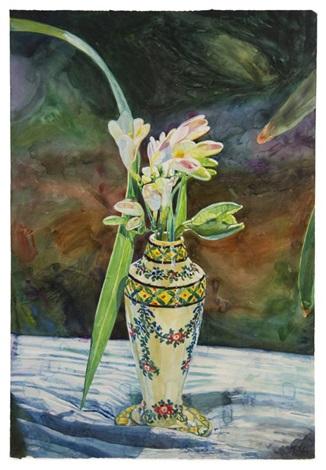 flowers in a vase by joseph raffael