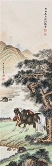 双马图 by wang xinjing and ma jin