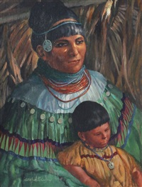 seminole woman and child by james hutchinson