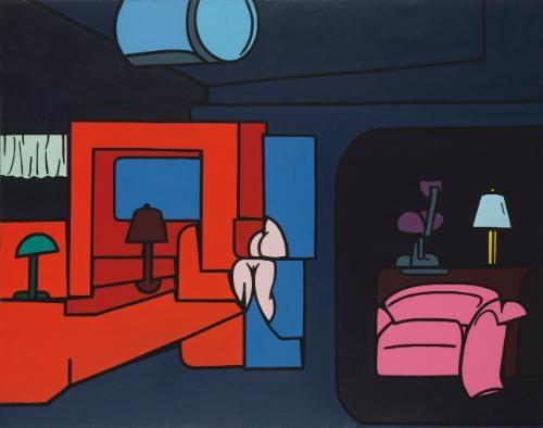 interno pubblico by valerio adami