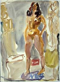 stehender weiblicher akt by horst leifer