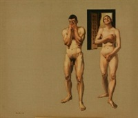 two figures by tom alberts
