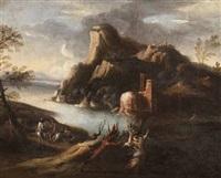 paesaggio fluviale con pan e siringa by italian school-genoa (18)