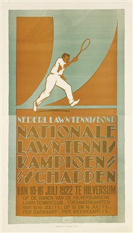 nationale lawn-tennis kampioenschappen (on 2 joined sheets) by louis christian kalff