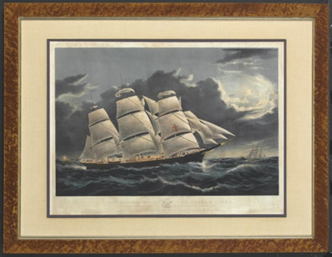 clipper ship quotdreadnoughtquot off tuskar light by duncan mcfarlane
