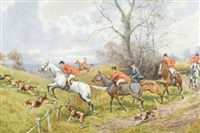 fox hunting views (4 works) by h. murray