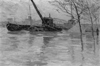 les inondations de la seine by jean constant raymond renefer
