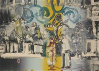introduction for a blues queen (uptown at savoy) (from jazz series) by romare bearden