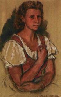 mädchenporträt by alfred sohn-rethel
