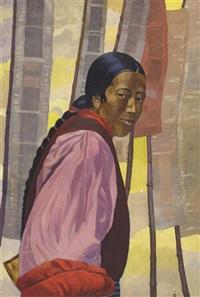 a tibetan woman by svetoslav nikolaevich roerich