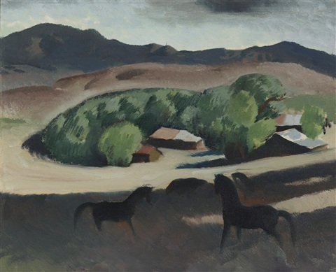 pomona ranch horses by millard sheets