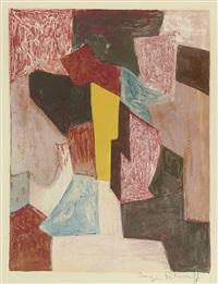 composition vii rouge, carmin et jaune by serge poliakoff