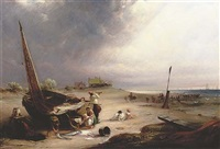 view of the east coast, near yarmouth by john wilson ewbank