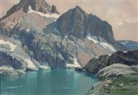 lac de montagne (lac cornu) by charles henry contencin