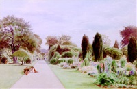 the path to the rose garden, roseneath house, thames ditton, surrey by cyril ward