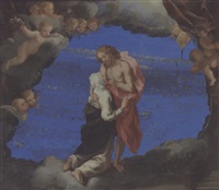 sainte catherine at the wound of christ by louis (luigi primo) cousin