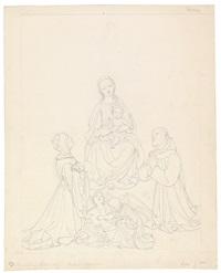 madonna mit kind und den hll. adelheid, franziskus und zwei engeln by josef von führich