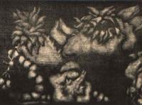 nature morte avec les ananas by ida barbarigo