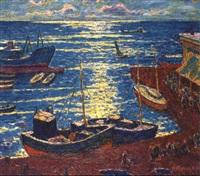 le port de pêche by oleg mikhailov