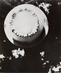 views of the underwater atomic bomb explosion at bikini atoll (2 works) by associated press