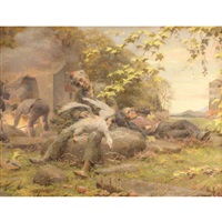 plucking geese by ferdinand staeger