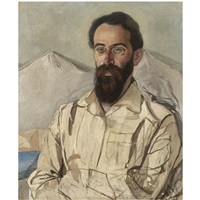 portrait of fridrikh eduardovich krimmer by aleksandr yakovlevich golovin