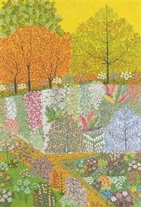 jardin au ciel jaune by helena adamoff