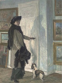 at the gallery door by theodor fabricius
